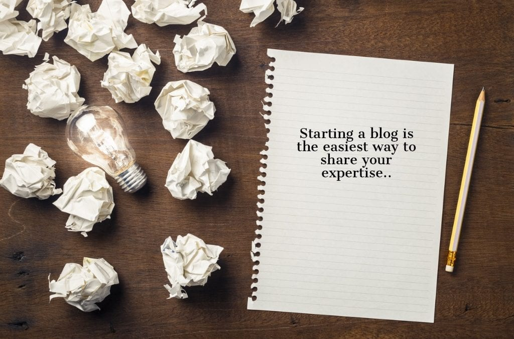 start writing a blog